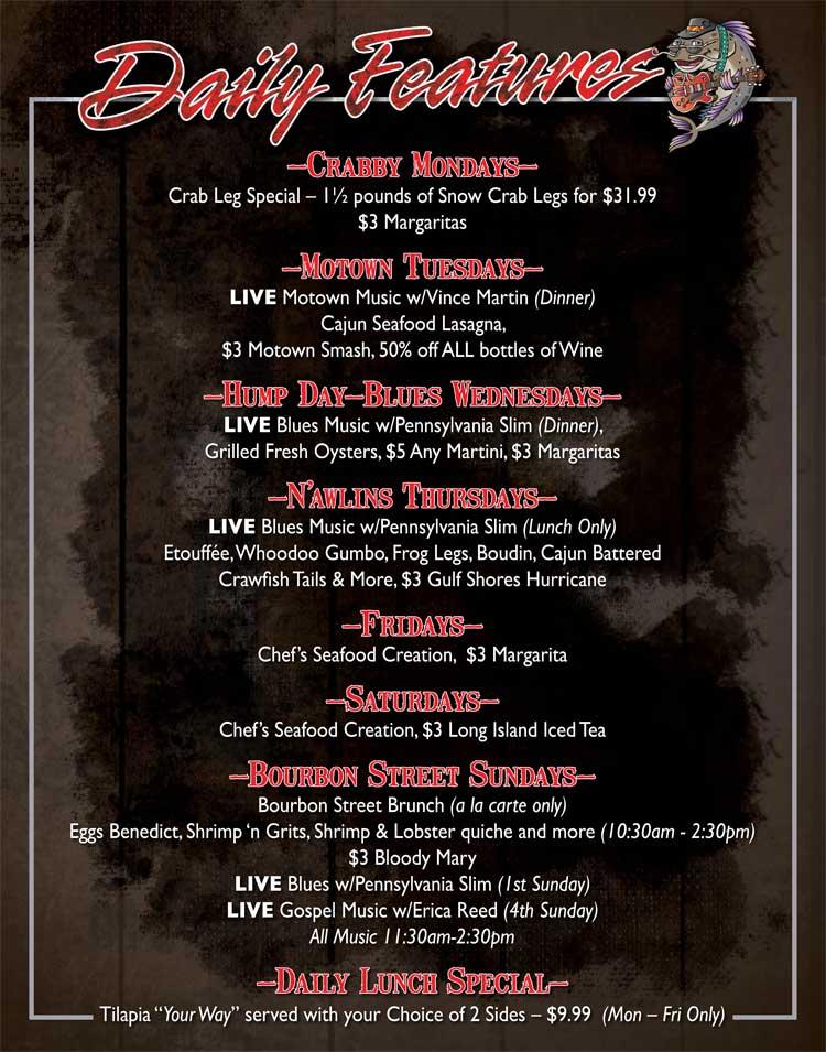 Specials Gulf Shores Restaurant Grill Creve Coeur Mo